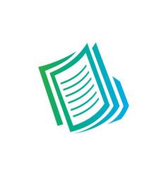 Paper file business logo vector