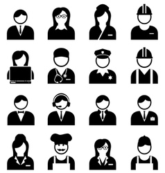 Professions and Occupations Icon vector image vector image