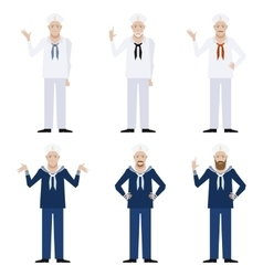 Set of Sailors3 vector image vector image