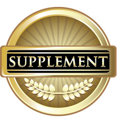 Supplement gold icon vector