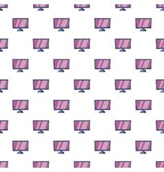 Tv pattern cartoon style vector