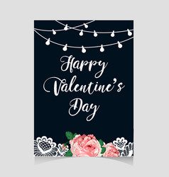 valentine s day vintage card vector image vector image