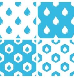 Water drop patterns set vector