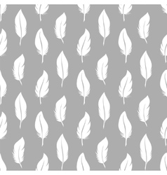 White feathers seamless pattern vector image vector image
