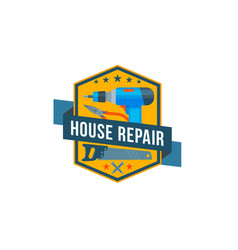 work tools icon of home repair construction vector image vector image