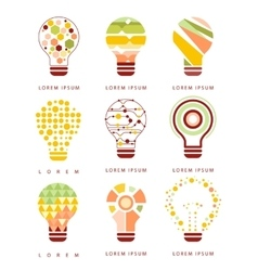 Idea bulb different geometric abstract design vector