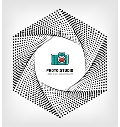 Photo studio logo design template vector