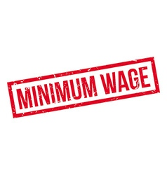 Minimum wage rubber stamp vector