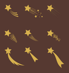 falling gold star vector image
