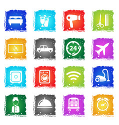 hotel simply icons vector image