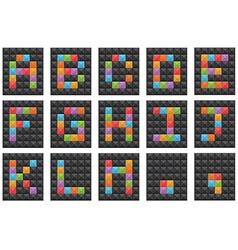 square alphabet set 1 vector image