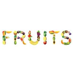 Fruits word vector