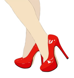 The beautiful womens shoes vector