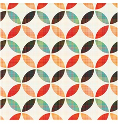 Seamless geometric circular pattern vector