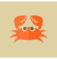 Crab food flat icon vector