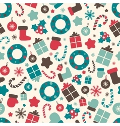Retro style Christmas patterns Winter background vector image