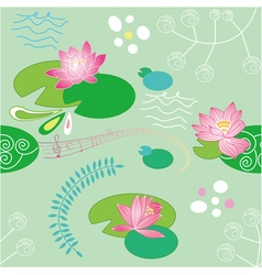 Lotus flower background vector