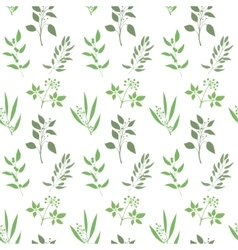 Seamless plant background endless pattern with vector
