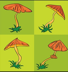Autumn seasonal cartoon mushroom vector