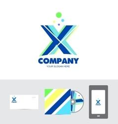 Alphabet letter x logo vector
