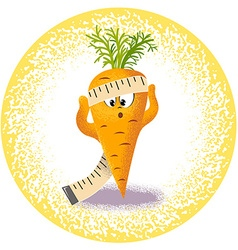 Carrot with measuring tape vector
