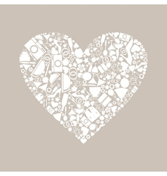 Wedding heart8 vector image