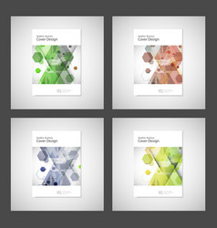 Annual report leaflet brochure flyer vector