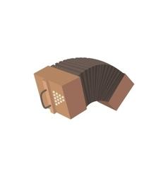 Bandoneon accordion icon cartoon style vector