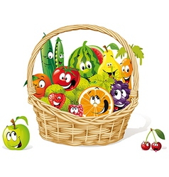 bio basket vector image vector image