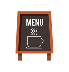 Chalkboard coffee restaurant menu vector