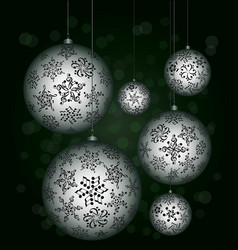 Christmas melody musical christmas balls vector