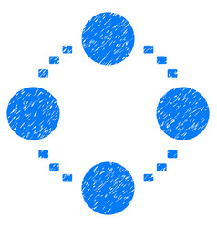 circular relations grunge icon vector image vector image
