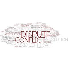 Dispute word cloud concept vector