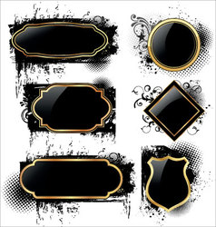 elegant labels on grunge background vector image vector image