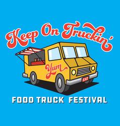 Food truck cartoon vector