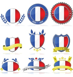 France badges vector image vector image