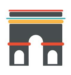 french architecture symbol triumph arch vector image