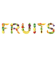fruits word vector image