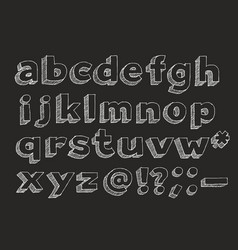 hand drawn alphabet lowercase vector image vector image