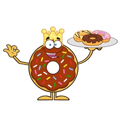 King Donut Cartoon vector image vector image