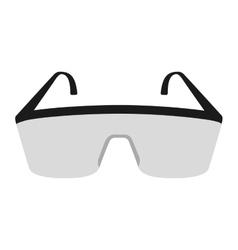 Laboratory goggles isolated icon design vector