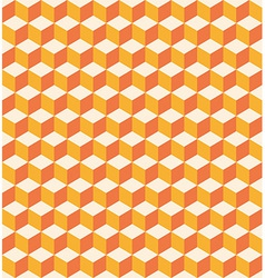 Orange cubes seamless texture vector image