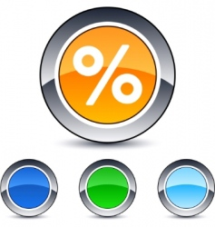 percent button vector image vector image