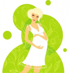 pregnant women floral vector image vector image