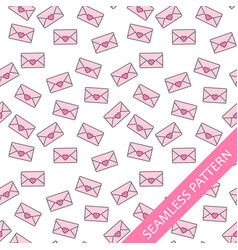 seamless pattern with love letters vector image vector image
