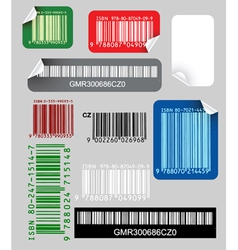 various labels vector image