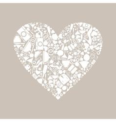 Wedding heart8 vector image