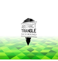 Abstract green triangle field perspetive pattern vector
