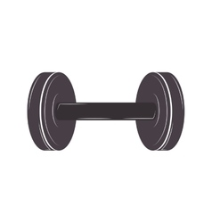 Silhouette dumbbell for training in gym vector