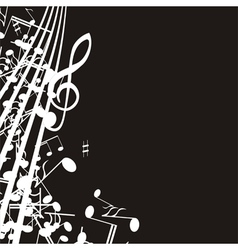 music note background design vector image